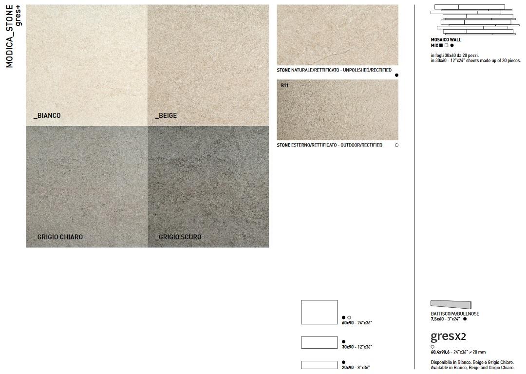 MODICA - Coem Ceramiche - цветове и размери